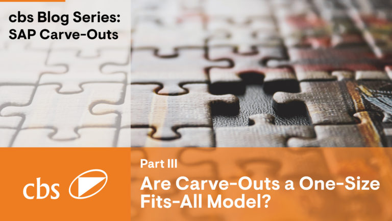 Is a carve-out a one size fits all model? – Carve-Out Series (Part III)