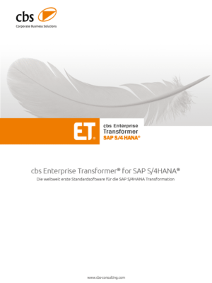 Whitepaper cbs ET for SAP S/4HANA